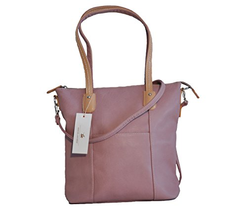 Borsa donna David Jones in ecopelle modello shopper medio - dark pink