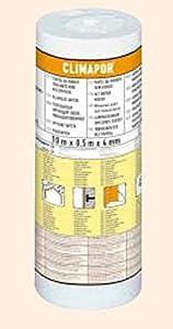 Climapor - Papel Aislante Eps Sin Lámina. Rollo de 5 M2 - Medidas : 10 M. X 0,5 M. X 4 mm