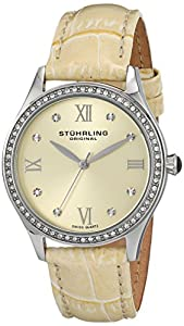 Stuhrling Original Women's 431.03 Vogue Analog Display Swiss Quartz Champagne Watch