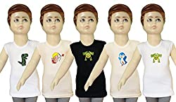 Selfcare Set Of 5 Baby Boy's Cartoon Design T-Shirts