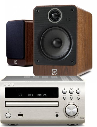 Denon RCD-M39DAB (Silver) Micro CD Receiver System with Q Acoustics 2010i Speakers (Walnut Finish). Includes 5... Black Friday & Cyber Monday 2014