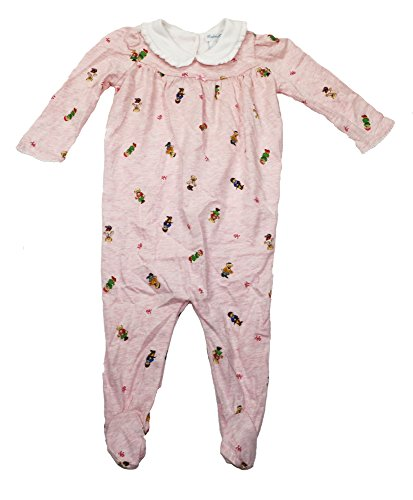 Polo Ralph Lauren Baby Girls Bear Printed Coverall Romper 9 Months