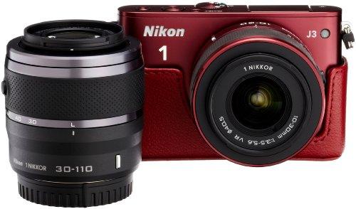 Amazon.co.jp限定Nikon1 J3 HLK+30-110㎜ダブルズームセットA レッド N1J3+30-110RDWZKA