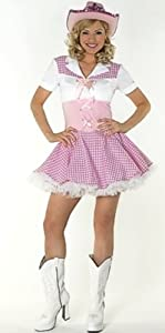 Dolly Parton Cowgirl Fancy Dress Costume & Hat Size US 8-10