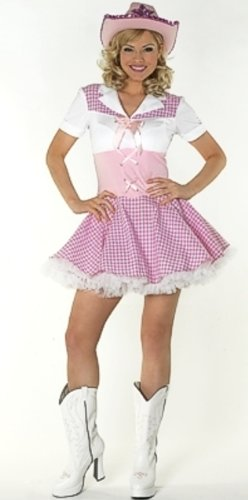 Dolly Parton Cowgirl Fancy Dress Costume & Hat Size US 6-8