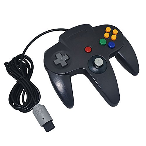 Generic Wired Game Controller for Nintendo N64 Black racing wheel controller for nintendo 3ds black