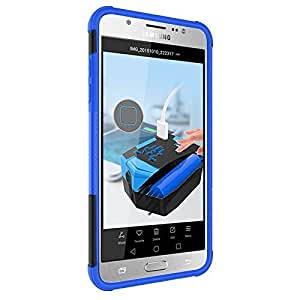 Noise Hybrid Kick Stand Back Cover Case for Samsung Galaxy J7 (Blue)