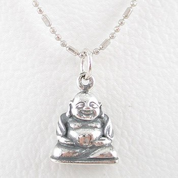 Silver pendants small sitting laughing buddha pendant in sterling cheap small sitting laughing buddha pendant in sterling silver on a 16 rhodium ball chain 8285 review aloadofball Image collections
