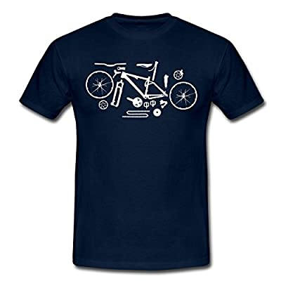 Spreadshirt Herren Mountainbike Kit T-Shirt