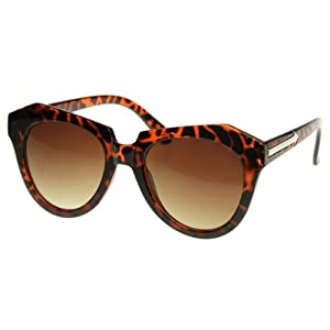 Modern Thick Cat Eye / Wayfarer Cross Sunglasses Edgy Retro Style Eyewear
