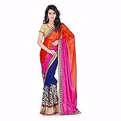 Sai Vira Fashion Georgette Saree (SVF25816316900_Multicolor)