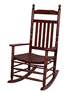Gift Mark Deluxe Adult Rocking Extra Tall Back Chair, Cherry by Gift Mark