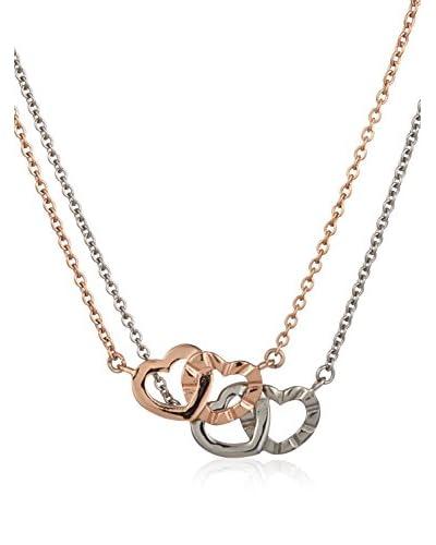 Inori Set de collares  Blanco / Oro Rosa