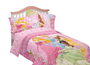Disney Dainty Princess Microfiber Comforter, Twin/Full