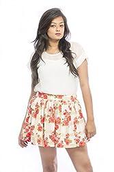Pinwheel Women's Skirt (Pwss15Skt024_Orange_30)