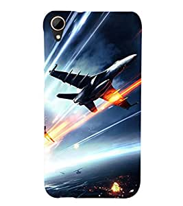 PRINTSHOPPII NAVY JET Back Case Cover for HTC Desire 828 Dual SIM