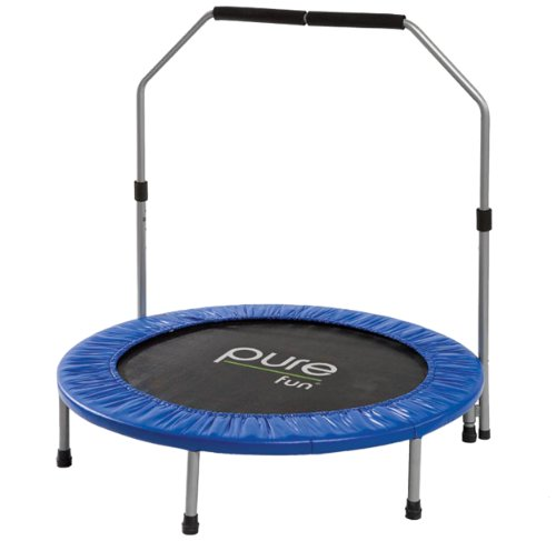 Pure Fun 40-Inch Mini Trampoline with Handrail