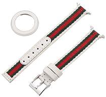 Gucci YFA50040 U-Play Small Kit White Leather Watch Bracelet and Matching Bezel