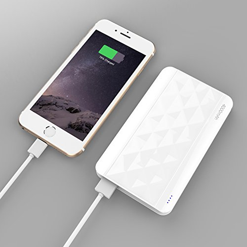 [Slim-Juice] Kans® Ultra Compact 4000mAh Portable Charger External Battery Power Bank for iPhone 6 Plus 5S, Samsung Galaxy S6 Edge S5 , Nexus, HTC, Motorola,Gopro, more Smart Phones (White)