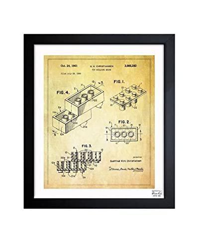 Oliver Gal Lego Toy Building Brick, 1961 Framed Art