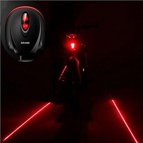 iMeshbean® Bike Lane LED Laser Rear Tail Light Cycling Bicycle Road Safety