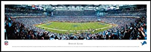 Detroit Lions - Ford Field - Wood Mounted Poster Print by Laminated Visuals