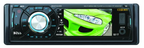 "Boss BV7320 In-Dash 3.2"" DVD/MP3/CD Widescreen Receiver with USB (Detachable Front Panel)"