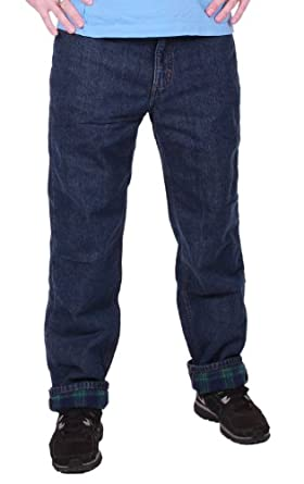 Member's Mark Mens Flannel Lined Jeans (38 Waist / 30 Inseam)