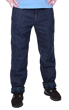 Member's Mark Mens Flannel Lined Jeans (40 Waist / 30 Inseam)