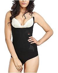 Adorna Body Slimmer Panty (Transparent Straps) - Black Ladies Shapewear