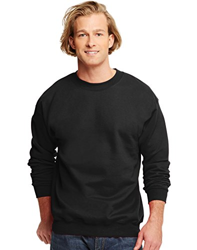 hanes-10-oz-ultimate-cotone-pile-crew-black-xl