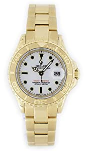Pre-owned Rolex Yacht-Master Ladies Date Display Yellow Gold Watch - 69628