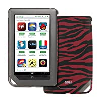 Barnes And Noble Nook Color Hot Pink And Black Zebra Stripes Stealth Rubberized Design Hard Case Cover