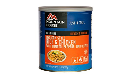 Mountain House Mexican Style Rice & Chicken #10 Can (Canned Emergency Food compare prices)