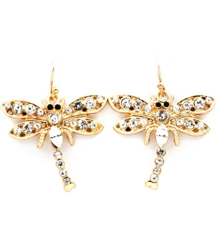 Golden Dragonfly Earrings