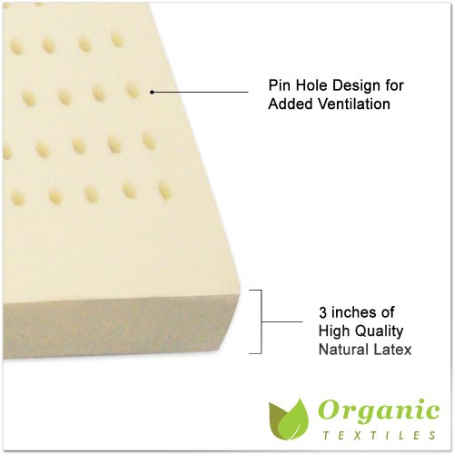 100% Natural Latex Topper Queen Size (3-Inch, Without Covering)