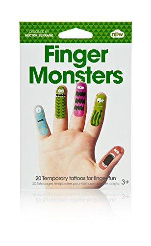 Finger Monster Temporary Tattoos For Finger Fun - 1