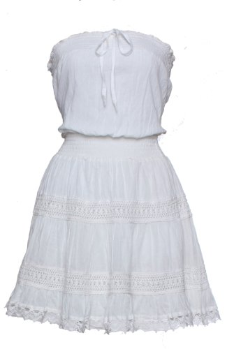 Classic Designs Strapless Cotton Coverup