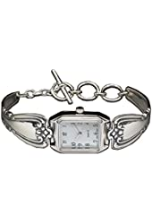 Silver Spoon Silverware Inspired Toggle Mother of Pearl Ladies Watch Daphne W