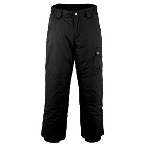 White Sierra Boy's Freeride Snow Pant (Black, X-Small)
