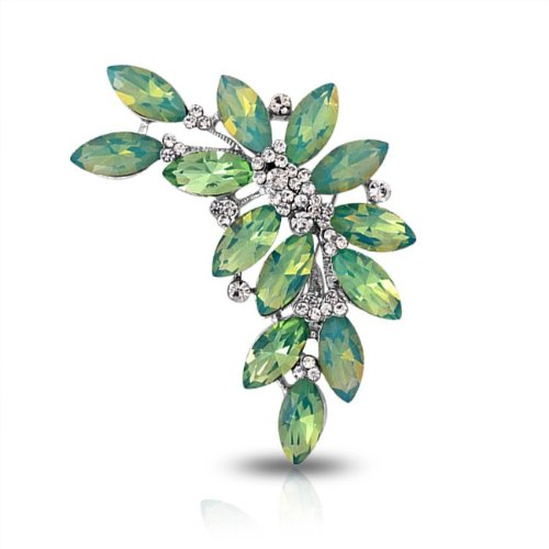 Bling Jewelry Green Peridot Color Marquise Crystal