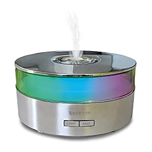 SpaRoom Aroma Mist Ultrasonic Diffusing Mister with Polishing Cloth, Chrome