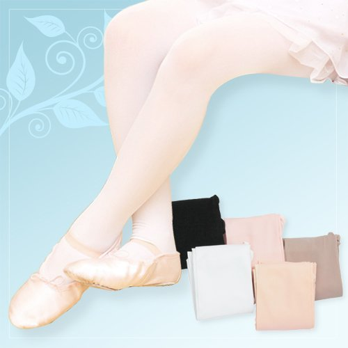 Smooth tights type (with Machiko Kyo) white S (101-130 cm) | Ballet tights adult children's kids ' Junior children children's cheap made in Korea dance ballet supplies store lessons for practice hooter type