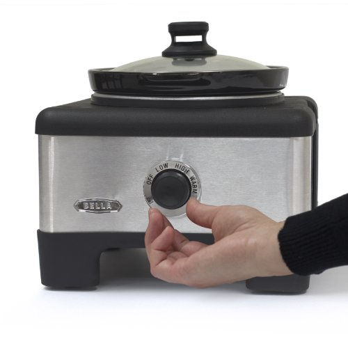 Bella 14013 Connectable Entertaining Slow Cooker System Stainless Steel Home Garden Kitchen
