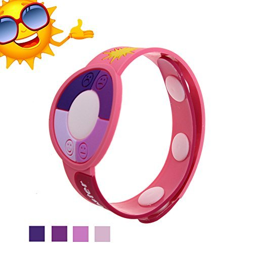 JideTech Round Shape Smile Face Ultraviolet Uv Tester with Color Changing Indicator Detector, 2015 Best Gift for Friends/Relatives and Loves Skin Protection in Sun Summer (Pink)