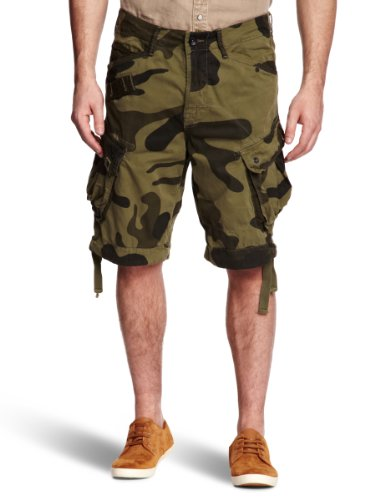 G-Star Raw RCO Rovic Loose Camouflage 1/2 Men's Shorts Sage W36 INxL32 IN - 21.131.81154A.4978.724.0.36