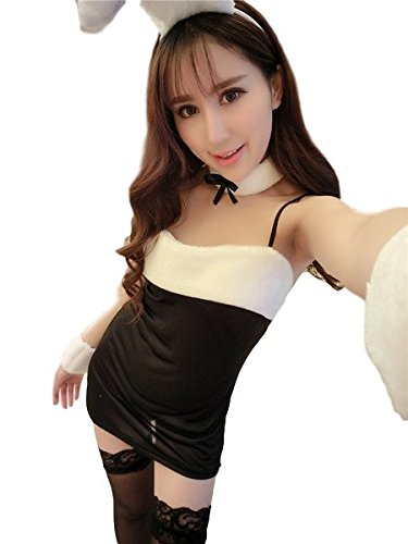 Gracave Sexy Bunny Girl Costume 【Black × White】Ladies Cosplay with headband
