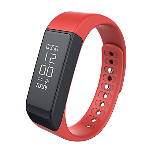 Fitness Tracker,Semaco Wireless Smart Bracelet with OLED Display Bluetooth Pedometer Sleep Monitor Activity Wristband for iPhone Samsung Android and iOS Smartphones (Red)
