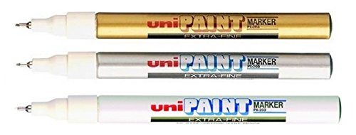 uni-ball-px-203-oil-based-paint-markers-extra-fine-gold-silver-white-triple