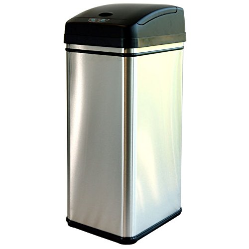 iTouchless 13-gallon Deodorizer Filtered Stainless Steel Sensor Trash Can (Butterfly Open Garbage Can compare prices)